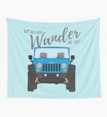 Wander (blue) Wall Tapestry