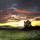 """""""July Sunset In HDR"""" by Melinda Stewart Page"""