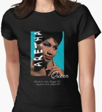 Aretha Queen of Soul RIP Women's Fitted T-Shirt