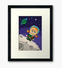 Zoe Conquers The Moon Framed Print