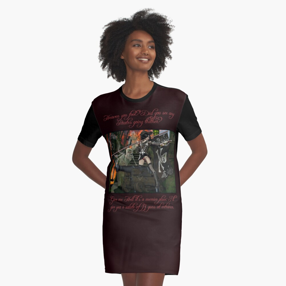 Pirate Ghost Witch Of The Caribbean  Graphic T-Shirt Dress Front