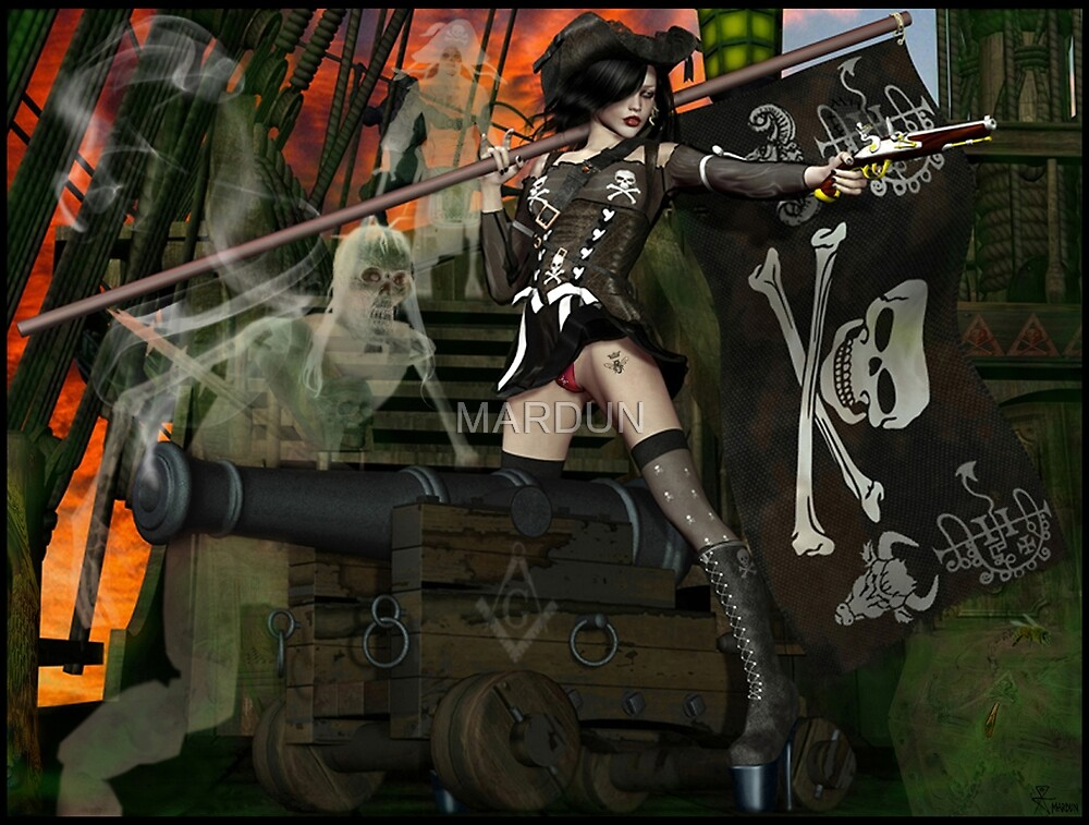 Pirate Ghost Witch Of The Caribbean  by MARDUN