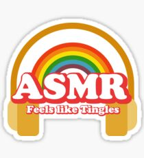 ASMR Binaural Tingles Tee Sticker