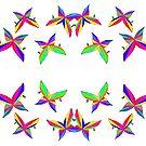 Butterflies - multicoloured psychedelic kaleidoscopic congregation by MoMoJaJa