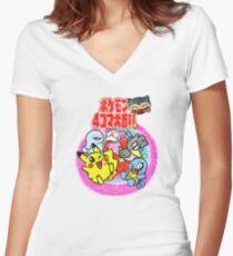 Pocket Monsters Women's Fitted V-Neck T-Shirt