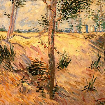 'Trees in a Field on a Sunny Day' by Vincent Van Gogh (Reproduction) by RozAbellera