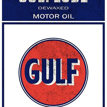 Gulflube Dewaxed Motor Oil - Vintage by PixelRandom