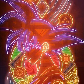 Super Saiyan Goku Neon Style by SenxCreations