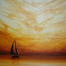Golden Sunset Sailing by Cherie Roe Dirksen