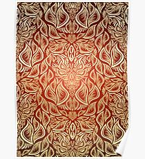 Decorative seamless floral ornament Poster