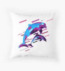Cojín de suelo Dolphins sea life Eighties Retro Violet and Purple