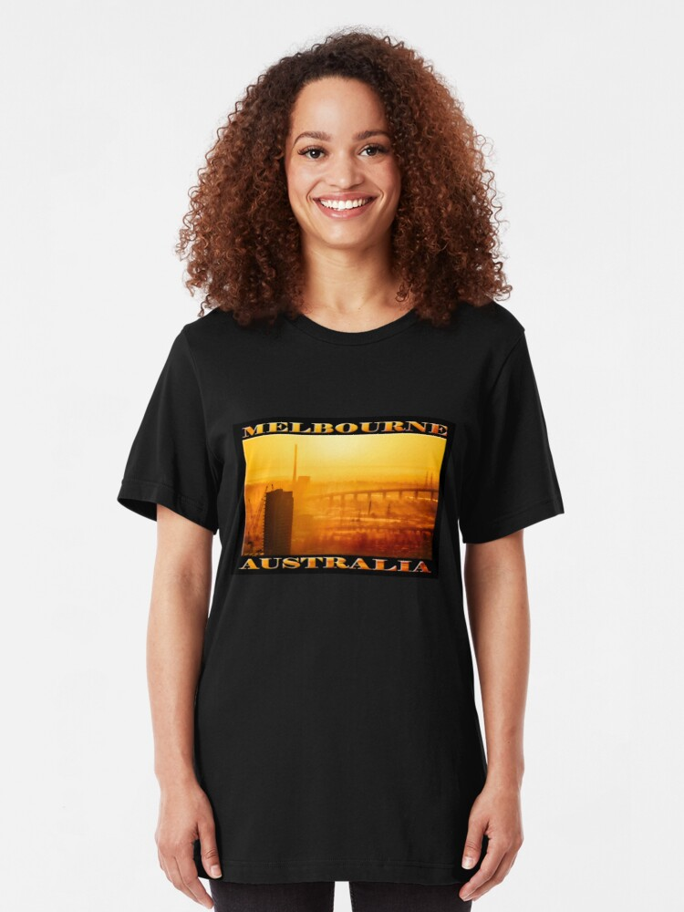 Alternate view of Hot in the City (widescreen poster on black) Slim Fit T-Shirt