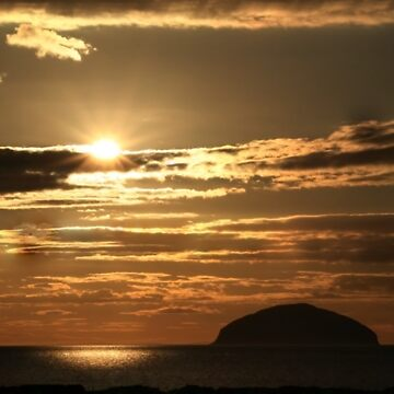 Sunset over Ailsa Craig - Scotland UK by simpsonvisuals