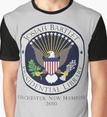 Josiah Bartlet Presidential Library Logo Graphic T-Shirt
