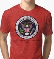 Josiah Bartlet Presidential Library Logo Tri-blend T-Shirt