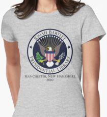 Josiah Bartlet Presidential Library Logo Women's Fitted T-Shirt