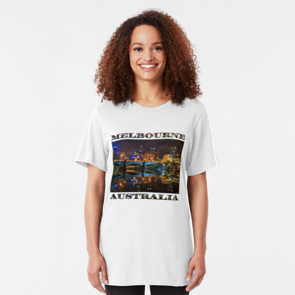 Reflective City (poster edition on white) Slim Fit T-Shirt
