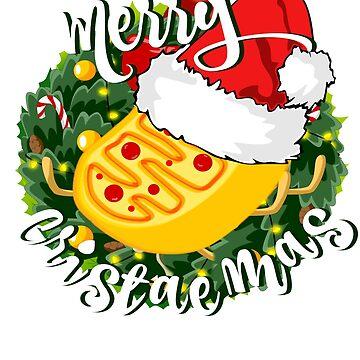 Merry Christmas Mitochondria Wreath by LouisianaLady
