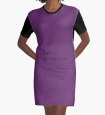 dictionary Graphic T-Shirt Dress