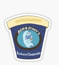 Ben and Scary's-Booberry Greasecake Sticker