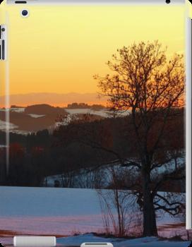 Colorful winter wonderland sundown V   landscape photography by Patrick Jobst