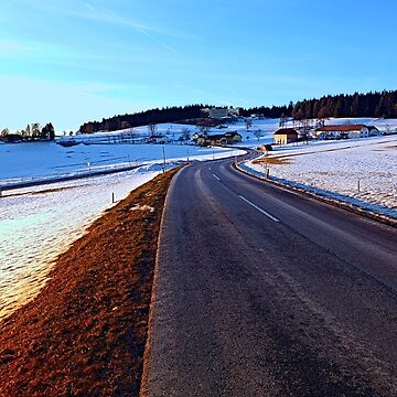 Country road through winter wonderland III | landscape photography by patrickjobst