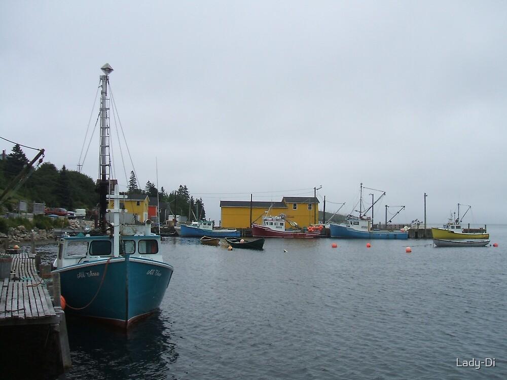 Fishing Boats by Lady-Di