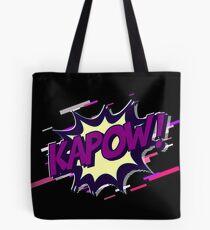 Kapow comic Eighties Retro Violet and Purple Tote Bag