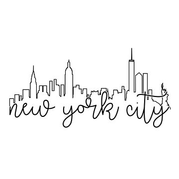 cityscape outline - nyc by arielledesigns