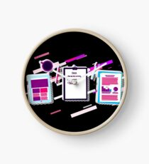 Desk notes Eighties Retro Violet and Purple Uhr