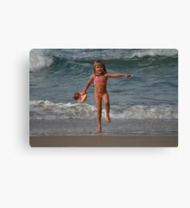 Childs Play at the Beach Canvas Print