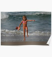 Childs Play at the Beach Poster