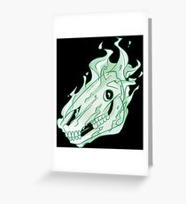 Ghost Horse Sees All Greeting Card