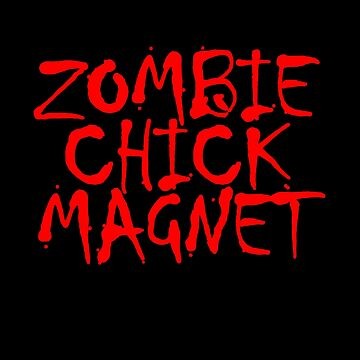 Zombie Chick Magnet by wrestletoys