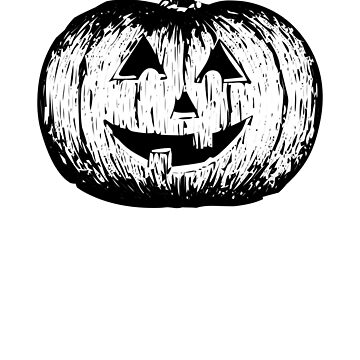 Smiling Pumpkin Face Halloween Scary and Funny by cssdru