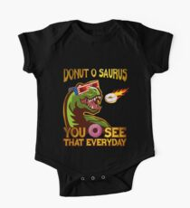 Donut O Saurus Flaming Donut One Piece - Short Sleeve
