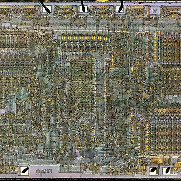 8008 CPU Die by big-dingus