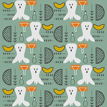 Spooky mid-century pattern by cocodes