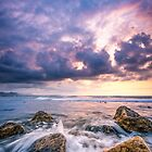 Dawn sky and waves at Playa Can by Ralph Goldsmith