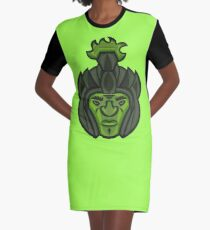 Zombie Orc Warrior Graphic T-Shirt Dress