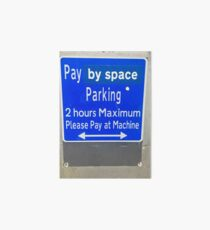 Pay By Space Art Board