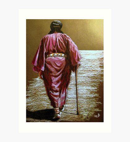 Navajo Woman...Long Walk Home... Art Print