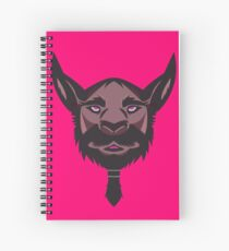 Beardilicious Vector Art Spiral Notebook