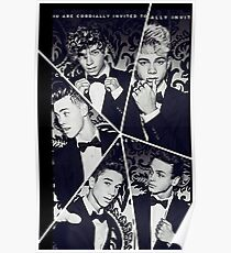 why dont we black and white collage Poster