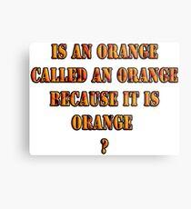 Oranges random question Metal Print