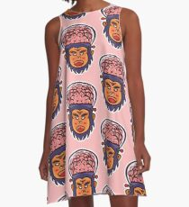 Brainiax Vector Art A-Line Dress