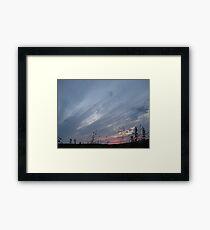 Brush Srokes in The Sky...... Framed Print