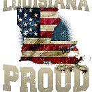 Louisiana stolzes starkes fantastisches Geschenk für Luisiana Fans von djpraxis
