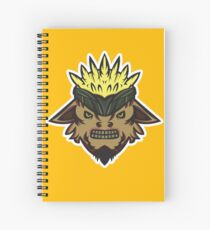 Corn Head Vector Art. Spiral Notebook