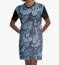Arctic animals Graphic T-Shirt Dress